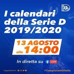 Pagina Calendario Agosto 2019.Serie D Domani Sara Reso Noto Il Calendario Del Campionato