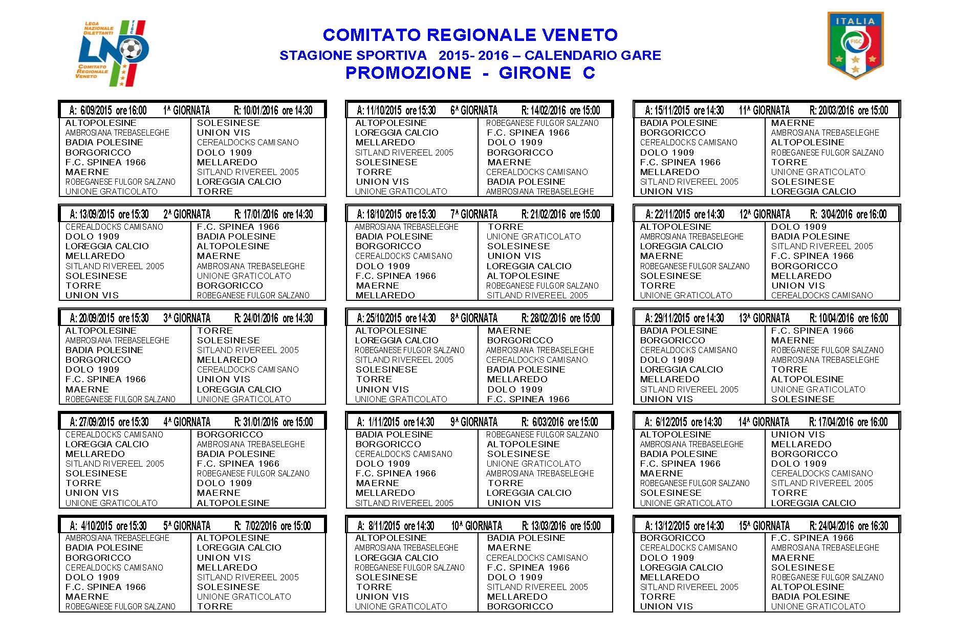 Calendario Promozione Abruzzo.Calendari Eccoli Tutti Dall Eccellenza Alla Prima Categoria
